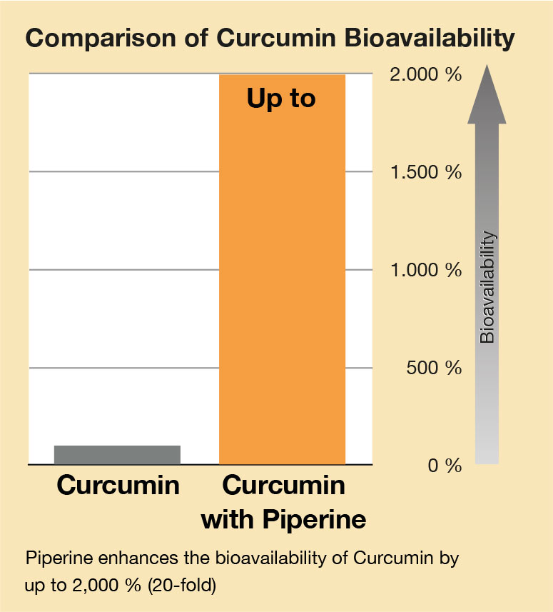 Curcuma Piperin Verfügbarkeit