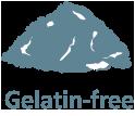 Free of gelatin