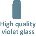 High quality violet glass